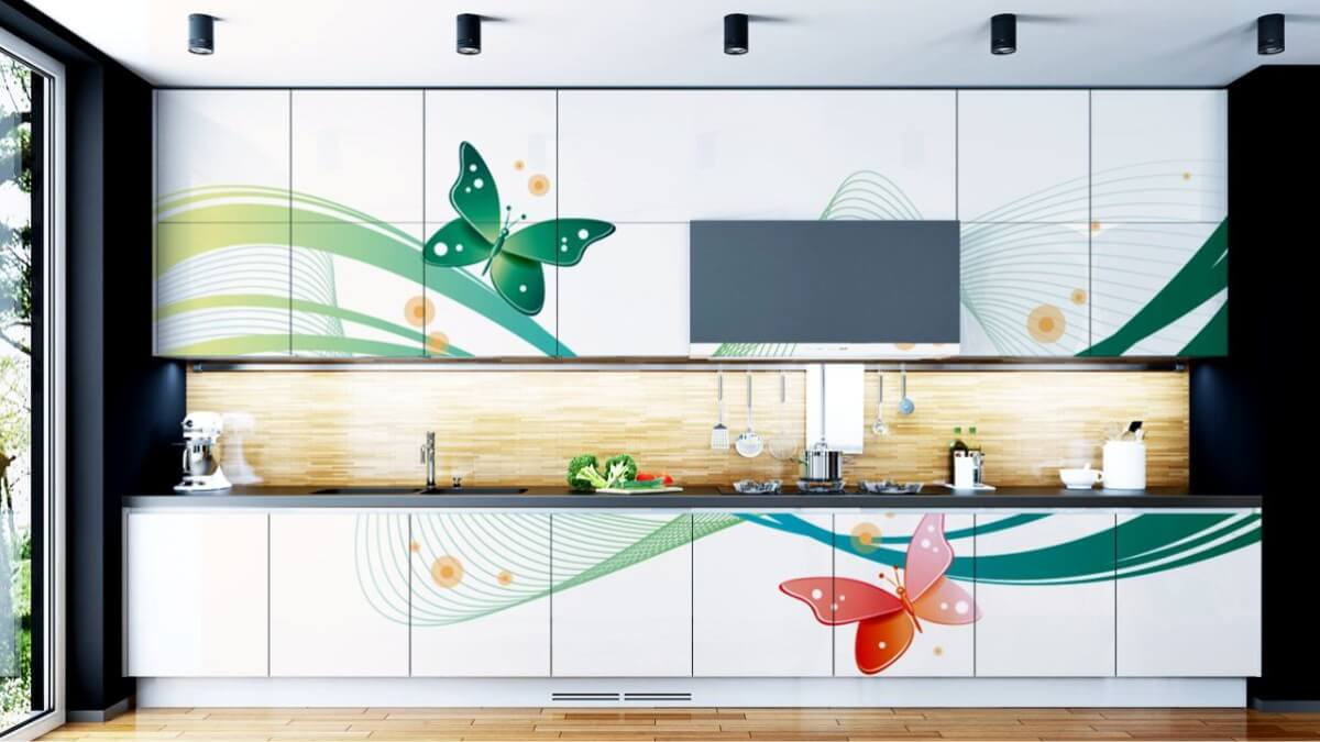 Acrylic Floral Shutter By Sunrise Kitchen World Best In